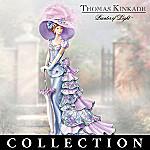 Thomas Kinkade Garden Of Elegance Lady Figurine Collection