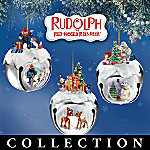 Rudolph The Red-Nosed Reindeer Sleigh Bells Christmas Ornament Collection