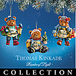 Thomas Kinkade Teddy Bear Christmas Ornament Collection