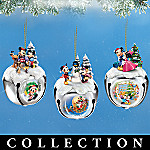 Disney Mickey And Minnie Mouse Christmas Sleigh Bells Ornament Collection