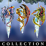 Dragons Of Fire & Ice Lighted Ornament Collection