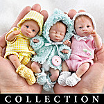 Heavenly Handfuls Sweet As You Please Poseable Miniature Baby Doll Collection