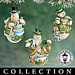 Irish Blessings Snowman Christmas Tree Ornament Collection: Thomas Kinkade Emerald Isle