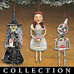 The Whimsical Wizard Of Oz Collectible Folk Art Christmas Ornament Collection