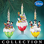 Disney Mickey Mouse And Friends Bubble Lights Christmas Tree Ornament Collection
