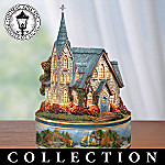 Thomas Kinkade Churches Of Faith Illuminated Music Box Collection