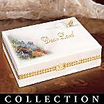 Thomas Kinkade Messages Of Faith Religious Porcelain Music Box Collection