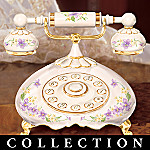 Message Of Love Porcelain Telephone Music Box Collection: Granddaughter Gift