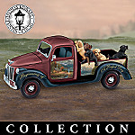 Thomas Kinkade Dog Days Vintage Truck Music Box Collection
