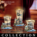 Thomas Kinkade Welcoming Lights Inspirational Lighthouse Art Candleholder Collection