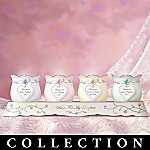 Wishes For My Daughter Collectible Porcelain Candleholder Collection: Daughter Gift