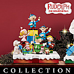 Rudolph Collectible Christmas Decoration Display With Stocking Holders: Up, Up And Away