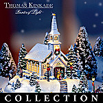 Thomas Kinkade Happy Holidays Lighted Miniature Village Collection: Unique Holiday Decor