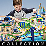 Build For Fun New York Yankees Wooden Train Play Set