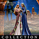 Thomas Kinkade Blessed And Holy Night Nativity Figurine Collection