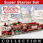 Rudolph's Christmas Town Express Electric Train Collection With Super Starter Set
