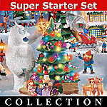 Rudolph The Red-Nosed Reindeer Christmas Town Village Collection With Super Starter Set
