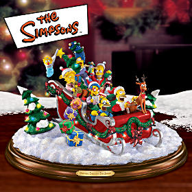 The Simpsons Figurine Christmas Tabletop Decoration