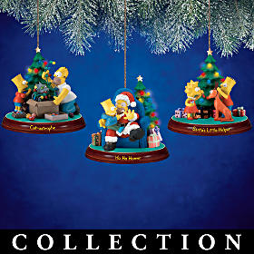 The Simpsons Illuminated Christmas Ornaments
