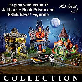 Elvis Presley Halloween Village
