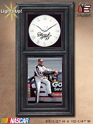 Forever The Man: Decorative Dale Earnhardt Wooden Wall Clock