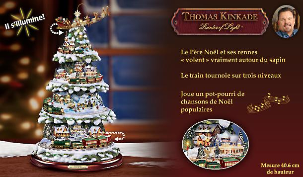 bradford exchange quebec une premi re sur le march un sapin de no l miniature thomas. Black Bedroom Furniture Sets. Home Design Ideas