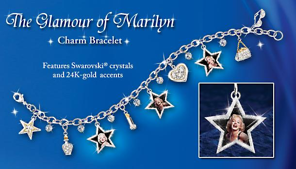 The Glamour Of Marilyn Charm Bracelet: Collectible Marilyn Monroe Jewelry Gift