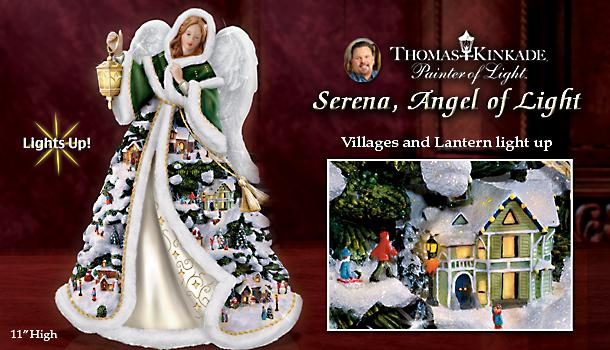 Thomas Kinkade Serena, Angel Of Light Figurine
