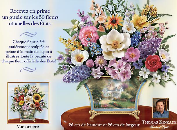 Bradford exchange quebec exclusif bouquet de fleurs l for Bouquet de fleurs quebec