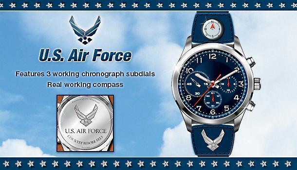 U.S. Air Force Sport Style Watch - Exclusive U.S. Air Force Stainless Steel Sport Style Watch Is a Timely Salute to Those Who Put Their Country First!