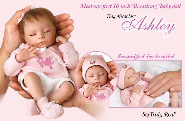 So Truly Real Ashton Drake TINY ASHLEY BREATH Doll NEW | eBay