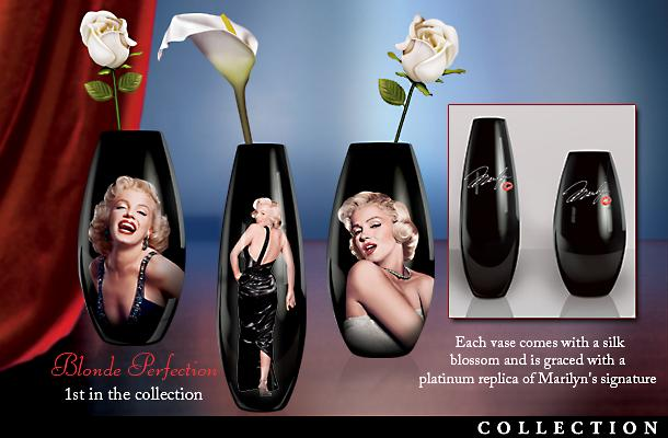 Marilyn Monroe Collectible Porcelain Vase Collection: Love Always, Marilyn