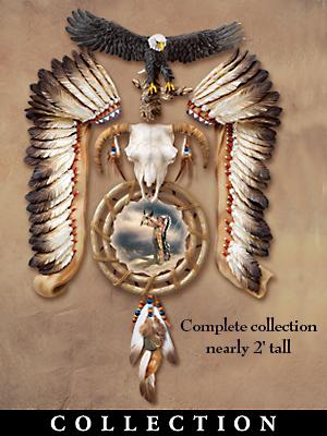 The Bradford Exchange Ancient Tribal Spirits Native American Style Eagle Wall Decor Collection