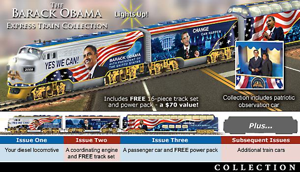 Barack Obama Express Train Collection - Exclusive Barack Obama Collectible Train Collection Goes Full Speed Ahead in Movement for Change! Own a Piece of History Now!