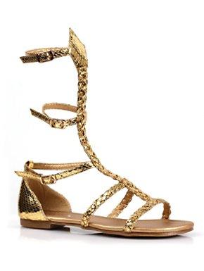 Child Gladiator Flat Gold Sandal