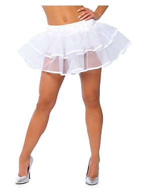 White Double Layer Petticoat Adult
