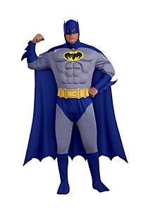 Men's Plus Size Deluxe Muscle Chest Batman Costume