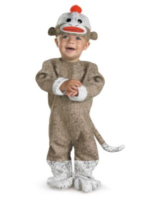 Click Here to buy Sock Monkey Baby (12-18 Mos) Costume from Wholesale Halloween Costumes