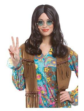 Unisex Hippie Wig Brown Adult
