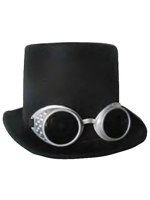 Steampunk Deluxe Hat and Goggles $10.99 AT vintagedancer.com