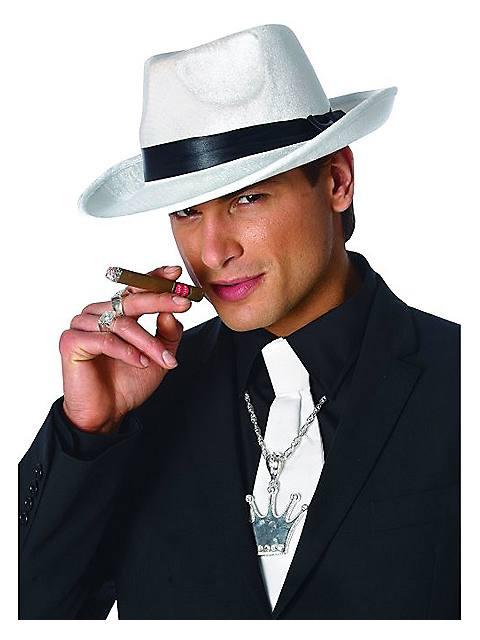 Adult White King Pin Hat $8.99 AT vintagedancer.com