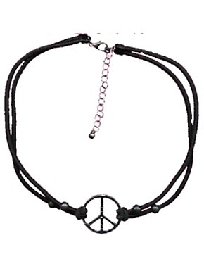 Black Peace Necklace