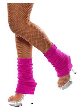 Neon Pink Legwarmers Adult