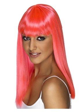Women's Glamarama Wig - Neon Pink