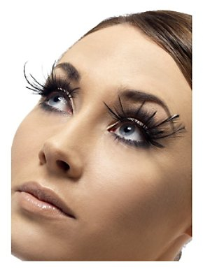 Deluxe Black Feather Plume Eyelashes