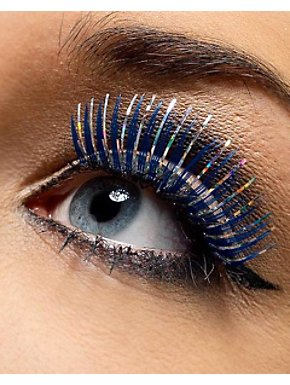 Blue and Silver Metallic Eyelashes