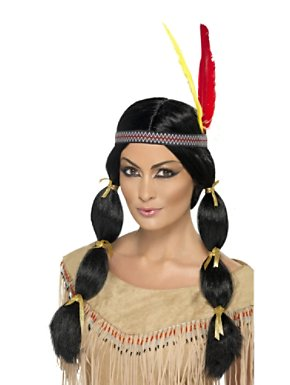 Adult American Indian Black Wig