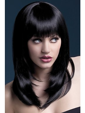 Adult High Temperature Resistant Tanja Wig Black
