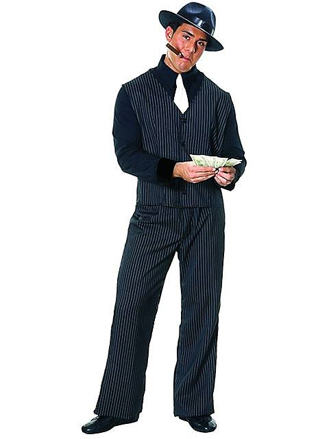 Plus Size Mens Gangster Costume $40.98 AT vintagedancer.com