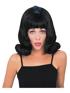 Black Flip Wig Adult